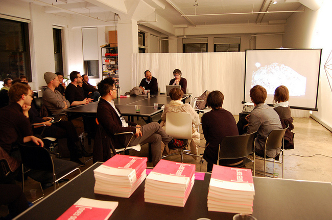 bracket [goes soft] book launch in NYC Studio-X Global Network