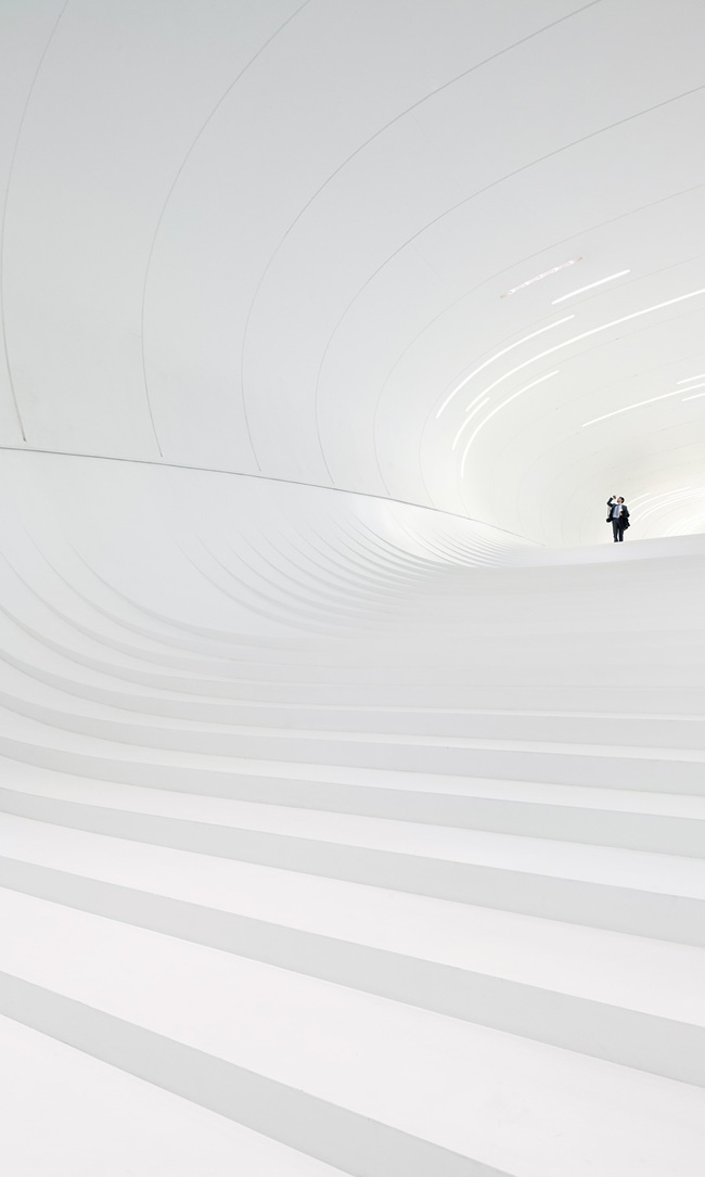 Overall Winner - Hufton + Crow for Heydar Aliyev Center in Baku, Azerbaijan by Zaha Hadid Architects. Photo courtesy of Arcaid Images Architectural Photographer of Year 2014 award.