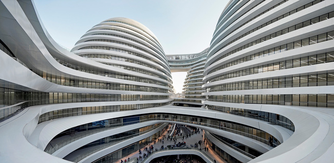 Galaxy SOHO, China by Zaha Hadid Architects (Photo: Hufton + Crow)