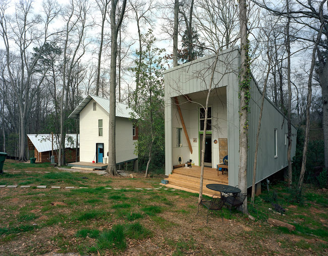 Houses from the 20K House project by Auburn University's Rural Studio, one of the pilot grantees of the newly launched Autodesk Foundation. Photo © Tim Hursley