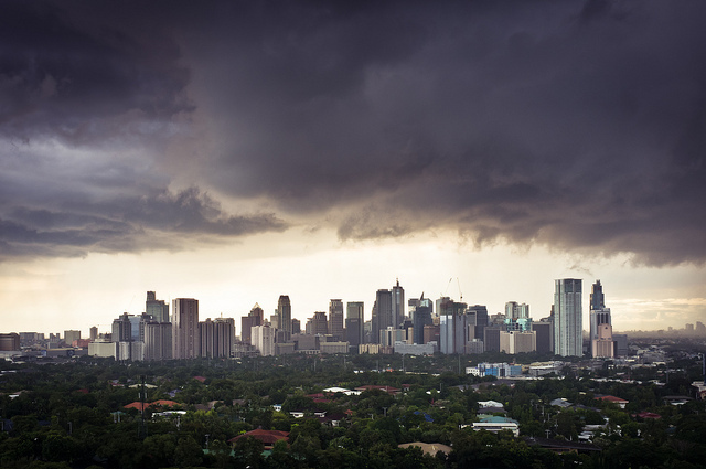 The Makati skyline in Metro Manila, which is projected to be the second largest city by 2030. Photo: Benson Kua/Flickr.