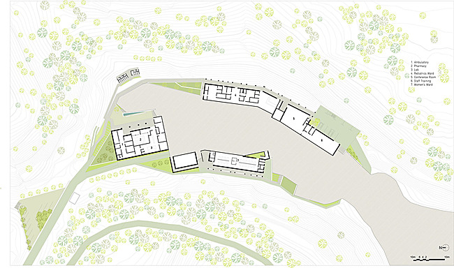 Site plan, lower site (Image courtesy of MASS Design Group)