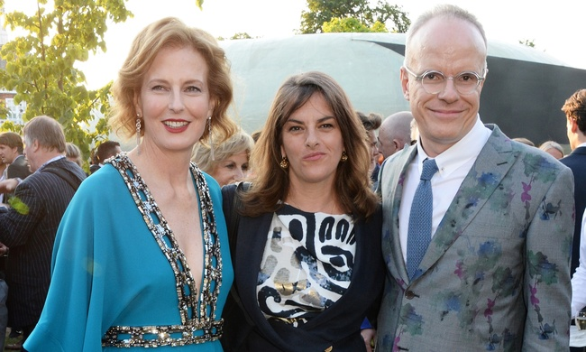 Left to right: Julia Peyton-Jones, the artist Tracey Emin and Hans-Ulrich Obrist at the Serpentine gallery. Photograph: David M. Benett/Getty Images for The Serpentine. Image via theguardian.com