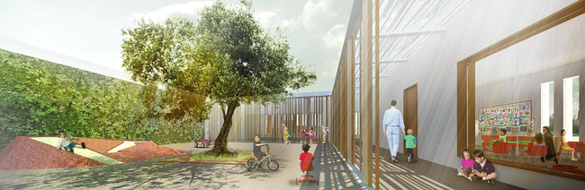 Kindergarten courtyard (Image: Atelier3AM)