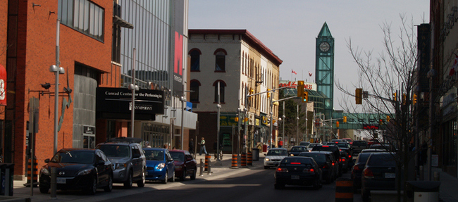 A view down King Street in downtown Kitchener