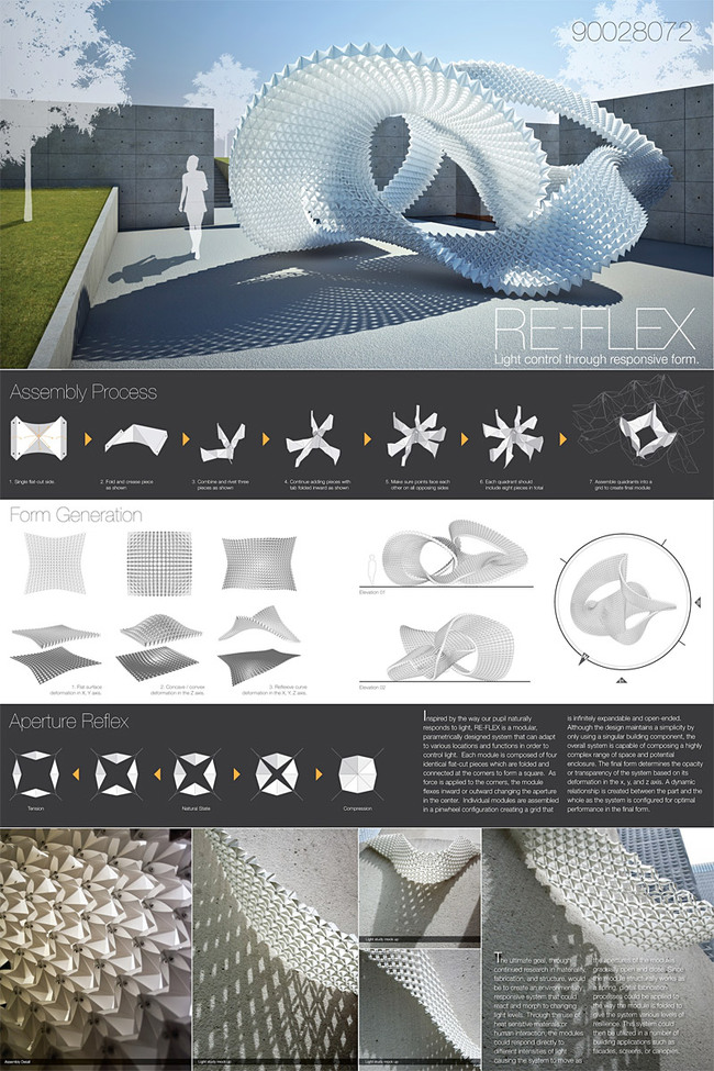 Honorable Mention - Speculative Proposal: RE-FLEX by Hernan Molina, Jordan Kepsel, Brendan O'Grady, Aaron Shenefelt, Michael Cagle, Jonathan LeMaster, Hon Yan Mok, Sang Yoon Kim, Dustin Wekesser, Rickey Crum and Robert Ting