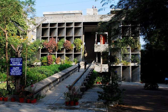 The Mill Owners' Association Building in Ahmedabad designed by Le Corbusier. Credit: Wikipedia