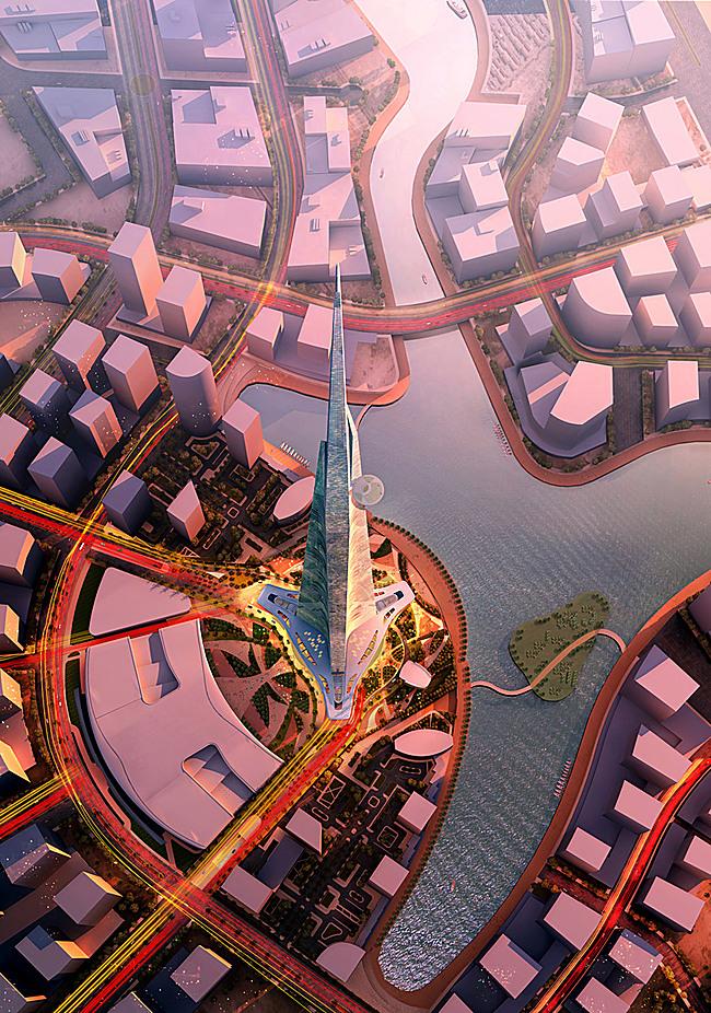 Aerial view (Image: Adrian Smith + Gordon Gill Architecture)