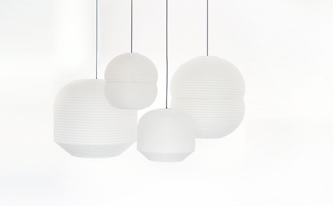 Barber & Osgerby's Hotaru Lanterns, one of the many items on display at the Stockholm Furniture and Light Fair