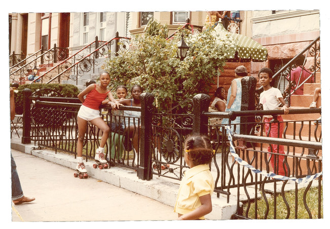 A scene from the block party, circa late 1970s. Image via nymag.com
