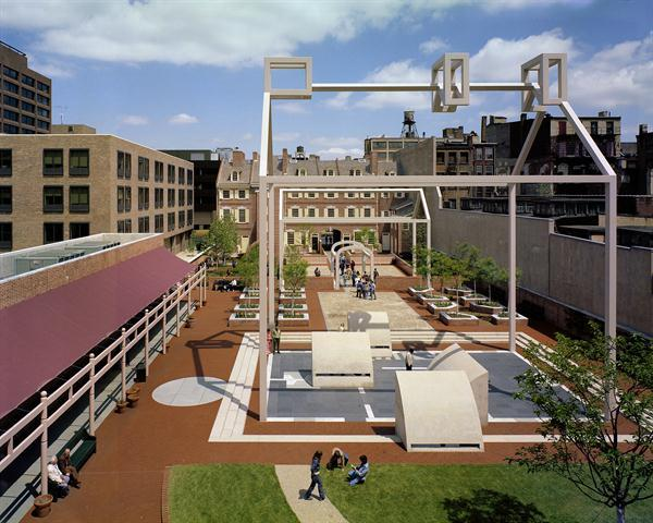 Franklin Court, 1976, Independence National Historical Park, Philadelphia - Credit Courtesy Mark Cohn Venturi, Scott Brown and Associates, Inc