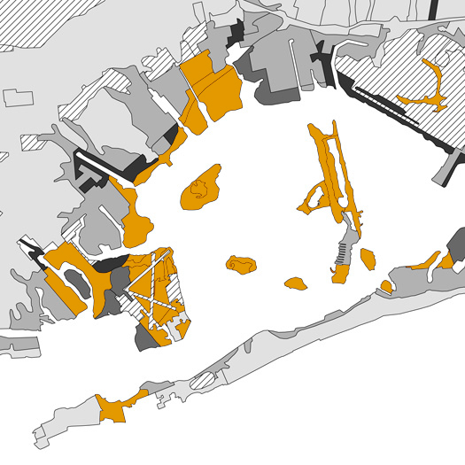 [Anthrosols in New York- dredge and other fill around Jamaica Bay. Draft map by the Dredge Research Collaborative].