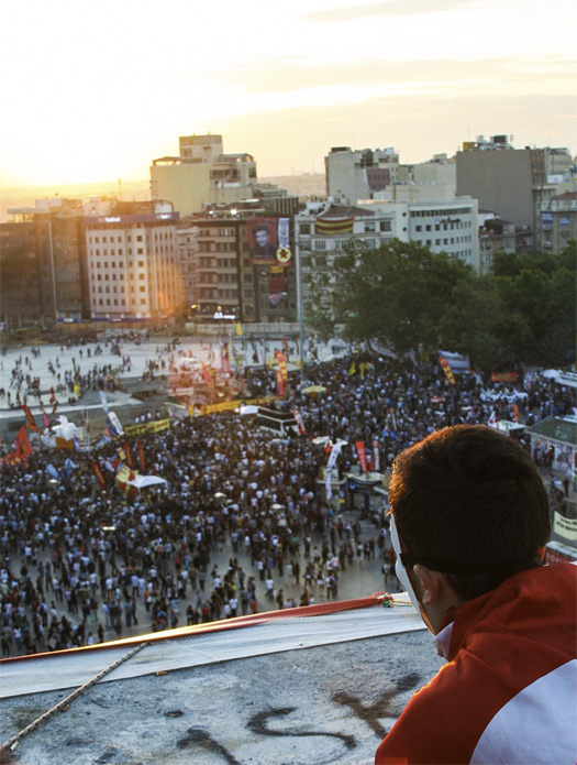 Taksim Square from above, June 6, 2013. [Photo by nsahusse]