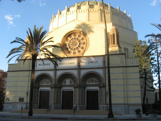 The historic Wilshire Boulevard Temple is set to have a new OMA-designed neighbor, paid for in part by the sale of a single Cy Twombly painting. Credit: Wikipedia