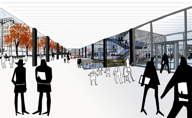 MLK Renovation Design Ideas, Team 1: Mecanoo + Martinez and Johnson