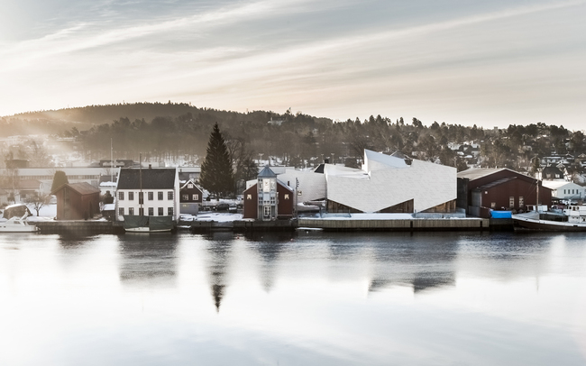 The Maritime Museum and Exploratorium by COBE and Transform in Porsgrunn, Norway. Credit: Rasmus Hjortshoj