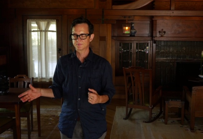 "Screen shot from ""Psychic Reading of the Gamble House"" by David Fenster, feat. Asher Hartman."