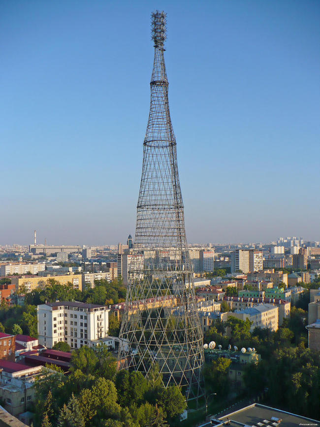 After decades of neglect, the landmark Shukhov Radio Tower, completed in 1922, is deteriorating quickly. (Image via wmf.org)
