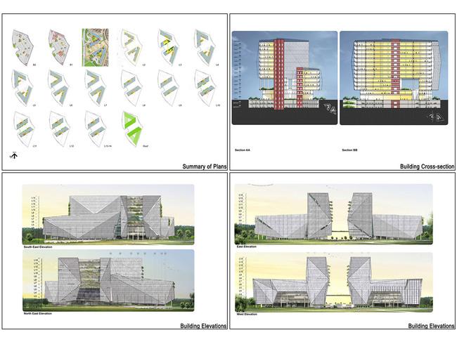 Elevation Plan Requirements : Elevation plan of commercial building joy studio design