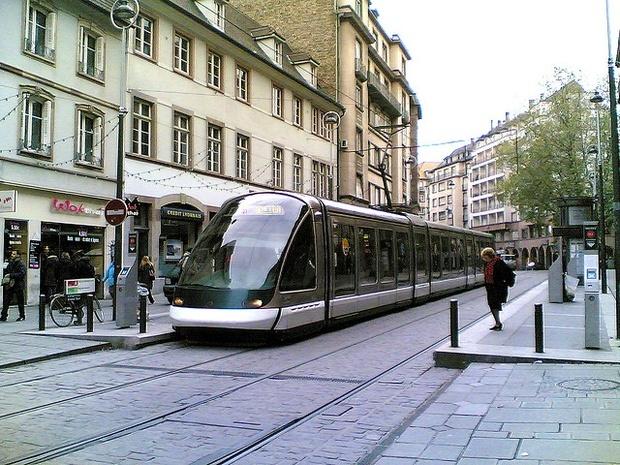 A tram in Strasbourg, France. Credit: Ernest Adams / Flickr