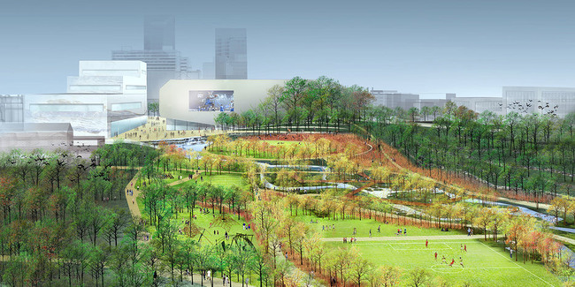 "Detail from the winning proposal ""Reviving Town Branch"" by SCAPE / Landscape Architecture team"
