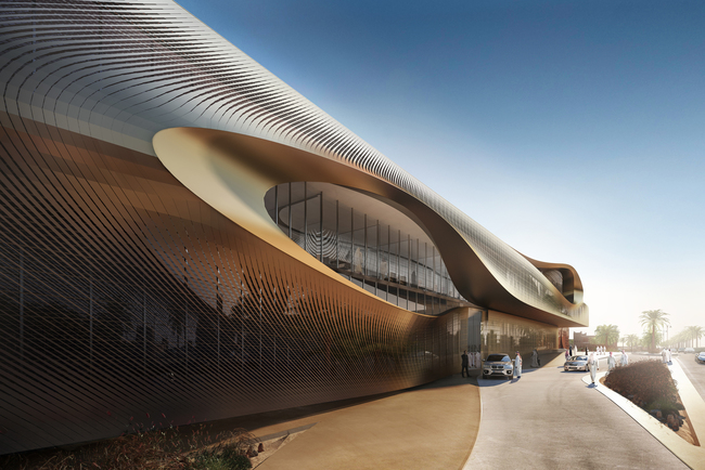 Urban Heritage Administration Centre. Rendering by Methanoia. Copyright © Zaha Hadid Architects