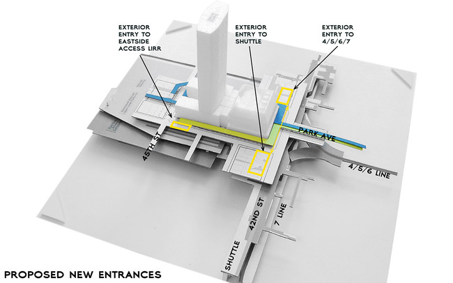 Diagram entrances (Image: WXY Architecture + Urban Design)