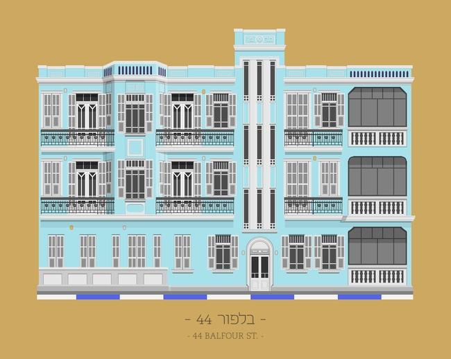 """""""44 Balfour St."""", image via TLV Buildings."""