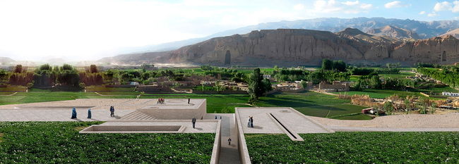 "Bamiyan Cultural Centre winning proposal: ""Descriptive Memory: The Eternal Presence of Absence"" by Carlos Nahuel Recabarren, Manuel Alberto Martinez Catalan, and Franco Morero from Argentina. Image courtesy of UNESCO Afghanistan."