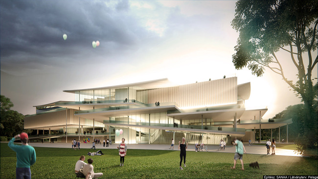 SANAA's winning proposal for the new National Gallery and Ludwig Museum in Budapest.