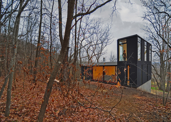Stacked Cabin; Muscoda, WI by Johnsen Schmaling Architects (Photo: John J. Macaulay)