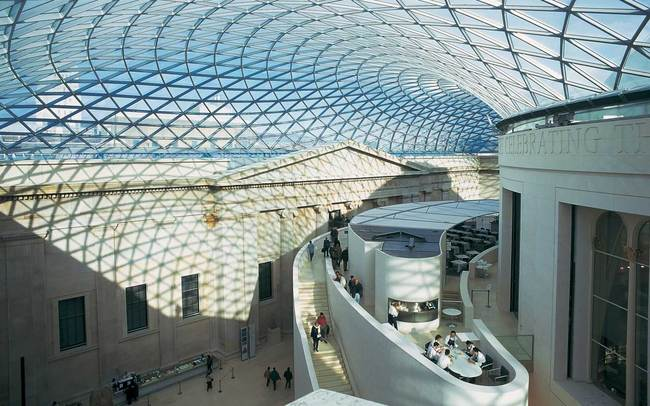 Interior view of the Grand Court Image credit: Foster + Partners