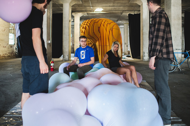 The Bubble Lounge Installation. Photo: GLINTstudios