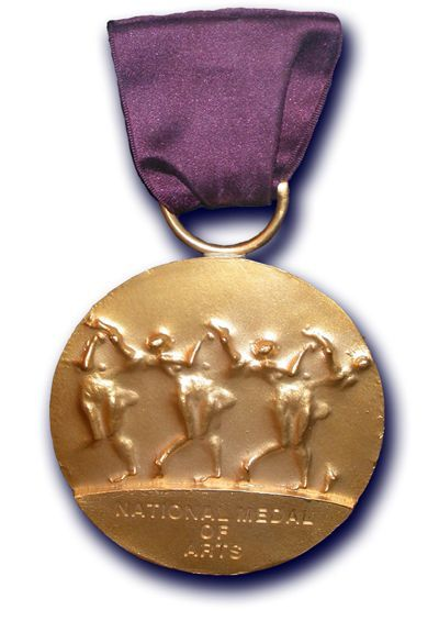 The National Medal of Arts, designed by Robert Graham. Photo via arts.gov