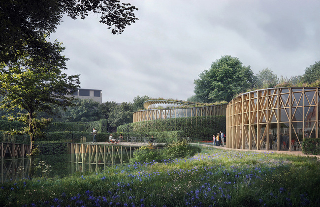 The new Hans Christian Andersen Museum proposal by the Kengo Kuma-led team. Image via Kengo Kuma and Associates.