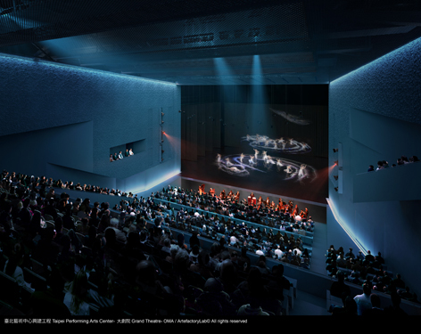 TPAC Grand theatre. Image © OMA