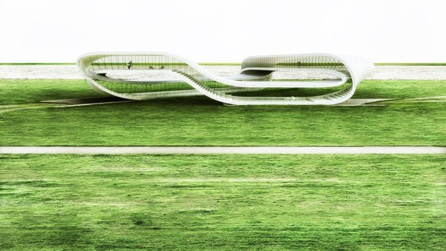 'Landscape House' by Dutch architect Janjaap Ruijssenaars (render)