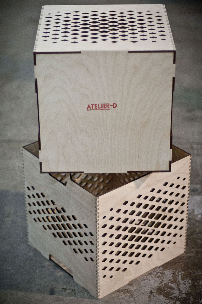 Lozenge Crates and Trays by Jonathan Dorthe for Atelier-D