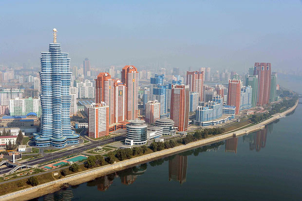 "Move over, Dubai: the candy-colored Mirae (""Future"") Scientists Street in the heart of Pyongyang is nearing completion after being introduced as a concept only last year. North Korea insiders suspect an increase of foreign investment and the rise of private real estate business under the guise of state agencies."