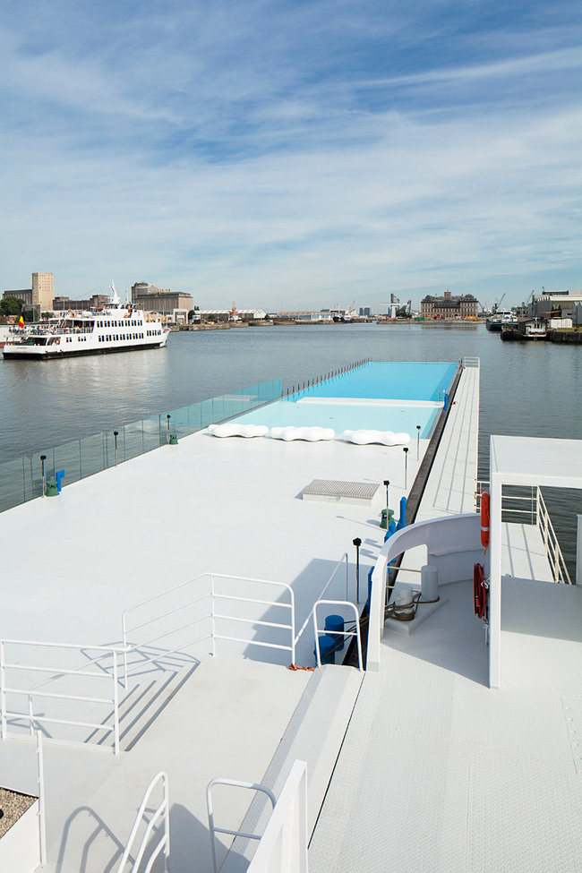 Badboot Lido in Antwerp, Belgium, designed by Sculp (IT)