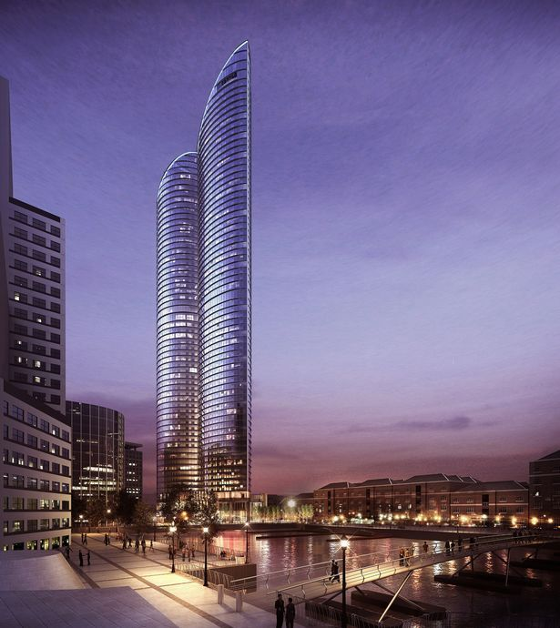 Artist's rendering of the proposed HOK designed tower.