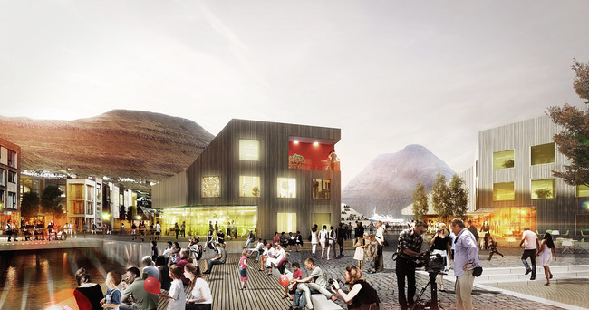 Klaksvík City Center, Plaza (Image: Henning Larsen Architects)
