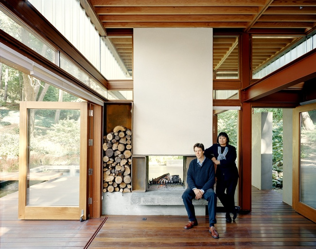 Professor Brigitte Shim and her partner Howard Sutcliffe of Shim-Sutcliffe Architects