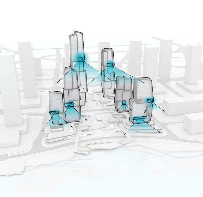 Diagrams, skygardens (Image: UNStudio)