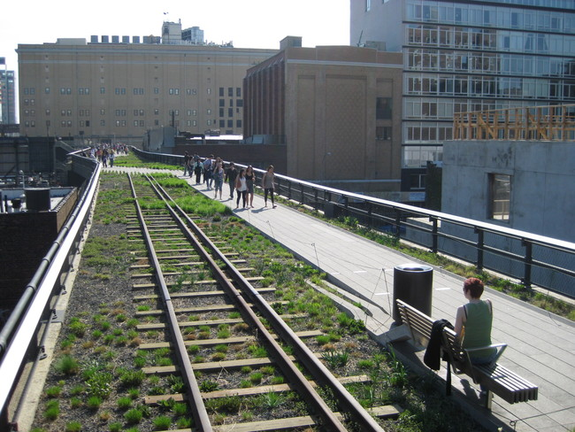 The Highline in New York is a celebrated and popular attraction that has dramatically changed Manhattan's Lower West Side. But critics contend that it also rises living costs in the adjacent area, displacing long-term residents. Credit: Wikipedia