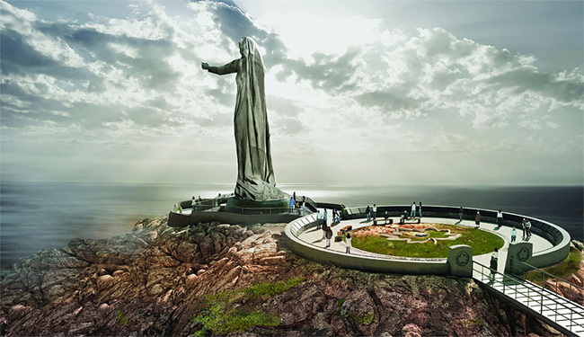 The 10-story Mother Canada statue is part of a proposed war memorial in Cape Breton Highlands national park in Nova Scotia. Not all Canadians are happy with the plans though. (Image: Never Forgotten National Memorial)