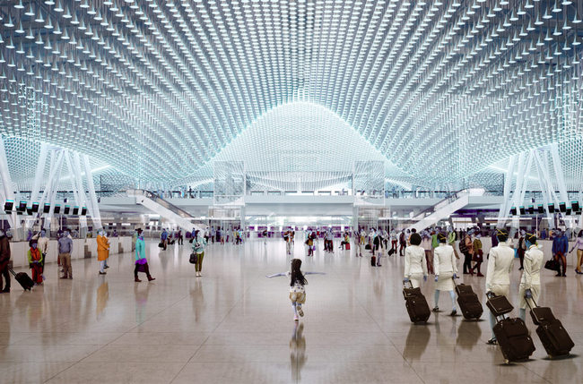 Rogers Stirk Harbour-led team to design new Terminal 3 at Taiwan Taoyuan Int'l Airport. Image © Rogers Stirk Harbour & Partners.