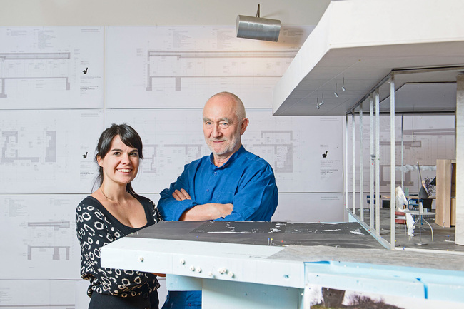 Rolex Arts Initiative Architecture protégée Gloria Cabral with mentor Peter Zumthor. Photo courtesy of Rolex Arts Initiative