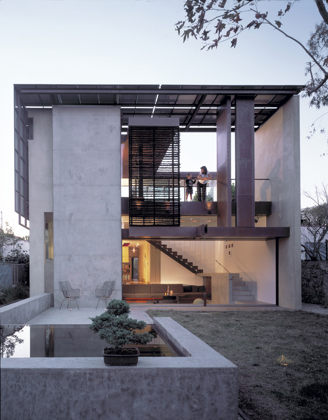 Architecture Design: Brooks + Scarpa - Energy neutral residence, Solar Umbrella, Venice, CA, 2005. Photo: Marvin Rand