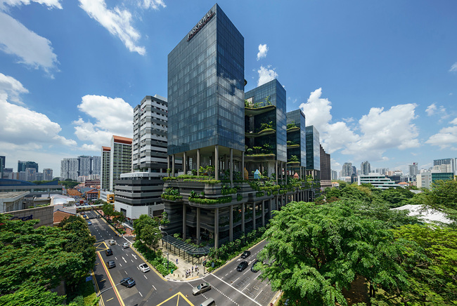 CTBUH 2015 Urban Habitat Award winner: PARKROYAL on Pickering - Singapore. Photo © PARKROYAL on Pickering